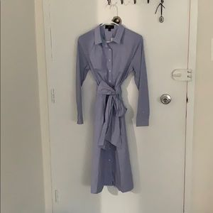 J Crew button down dress with a tie. Size 8 NWT.